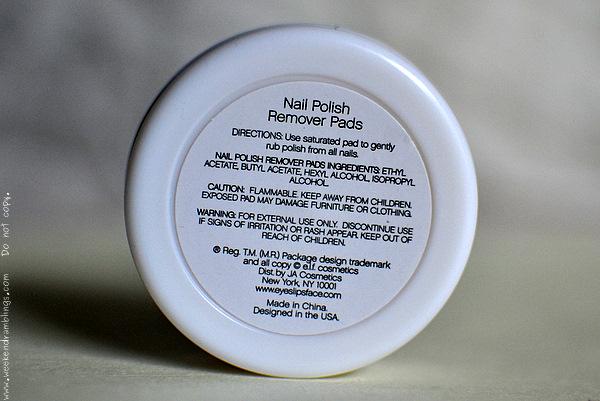 ELF Nail Polish Remover Pads Pre-soaked Professional Makeup Skincare Beauty blog