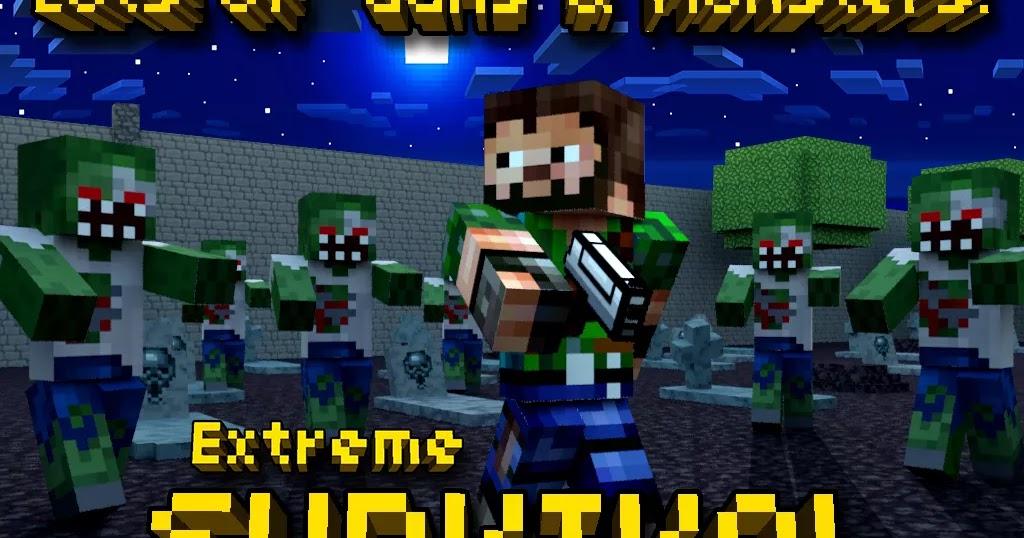 Pixel Gun 3D (Minecraft style) v3.9 Apk + Obb (Mod Free