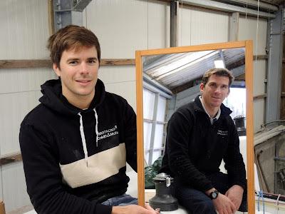 Seb Simon et Xavier Macaire ensemble sur la Transat AG2R