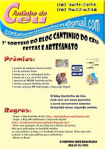 Sorteio No Blog  Cantinho do Céu