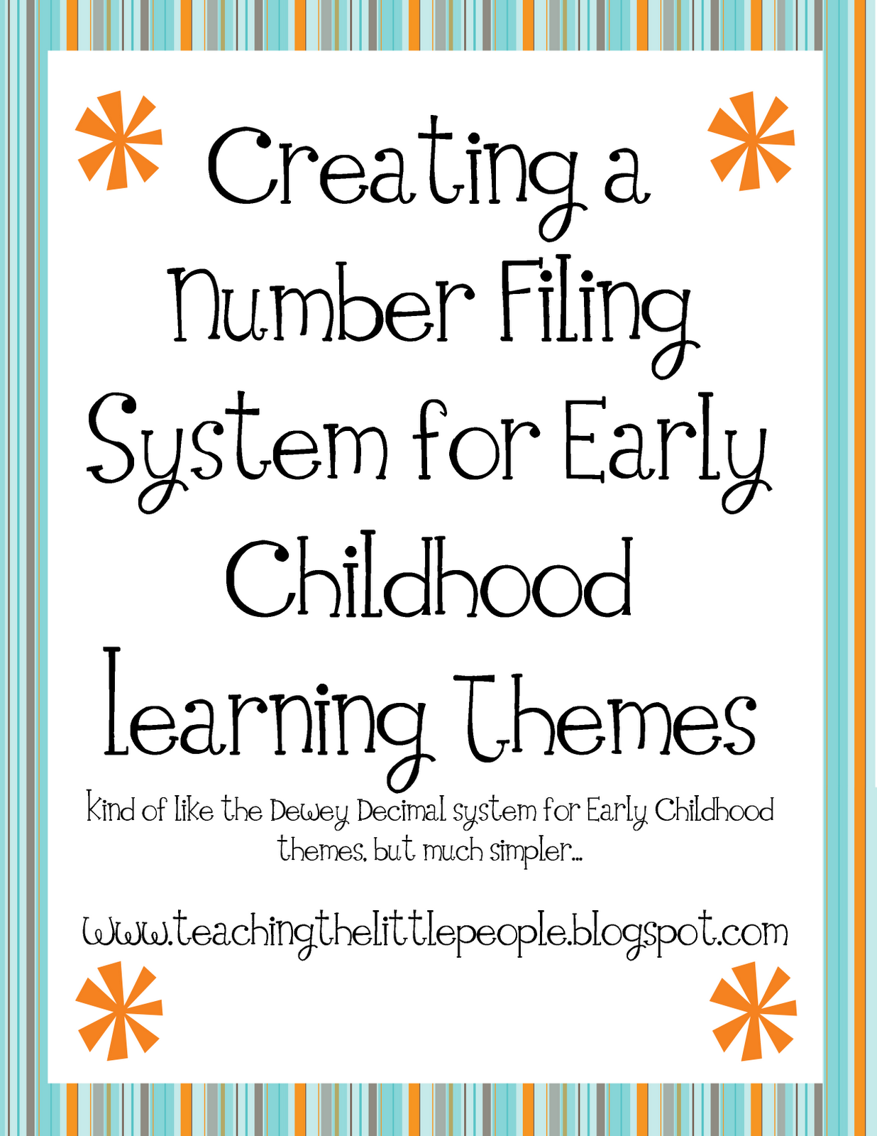 my teaching unit numbering system for preschool themes teaching the