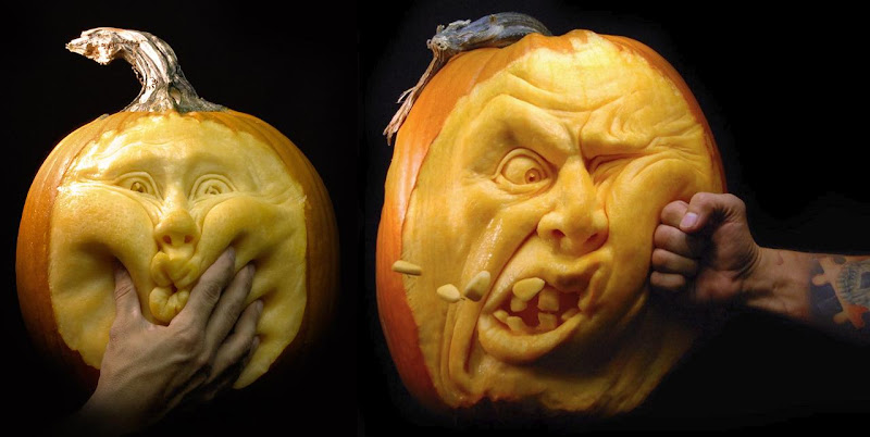 Simply creative awesome pumpkin carving by ray villafane