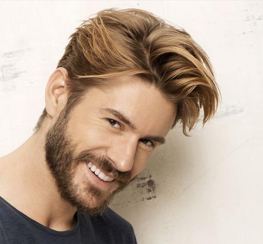 warna rambut highlight coklat untuk pria