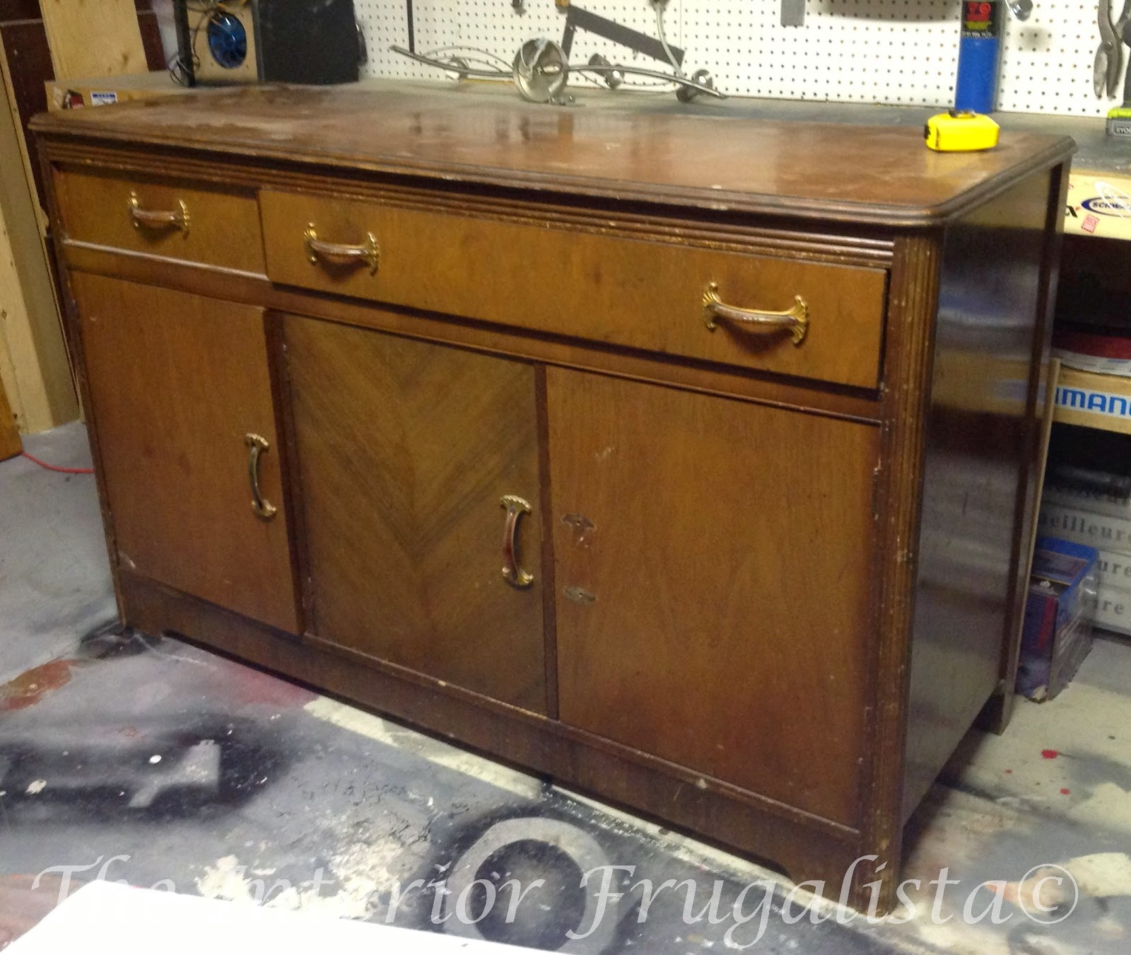A 70 year old sideboard before the makeover