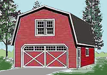 Garage with dormers plans garage plans blog behm for Gambrel apartment garage plans