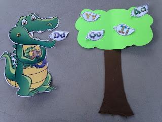 Mr alligator swinging letters for preschooler