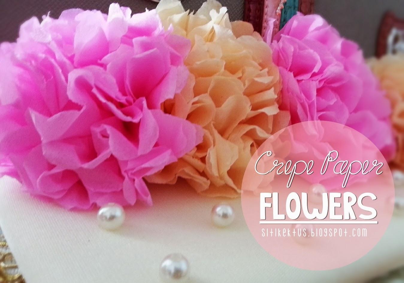 Bunga Kertas Tisu sebagai Hiasan Hantaran Pertunangan {DIY}