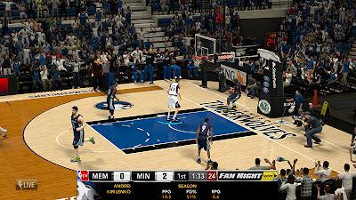 NBA 2K13 NBA TV Scoreboard with Team Logos