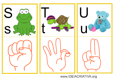 Flash Cards Letras do Alfabeto Libras