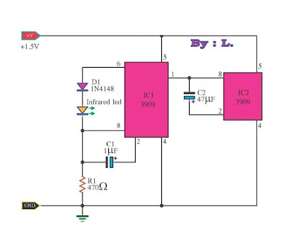Infrared transmitters using LM3909