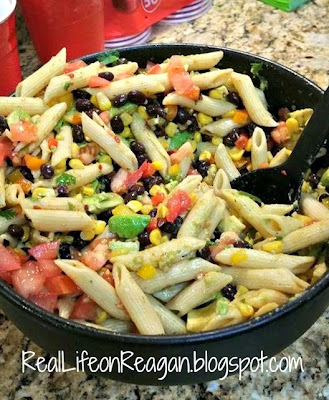 Mexican Pasta Salad | Pinterest Food Success | Real Life on Reagan
