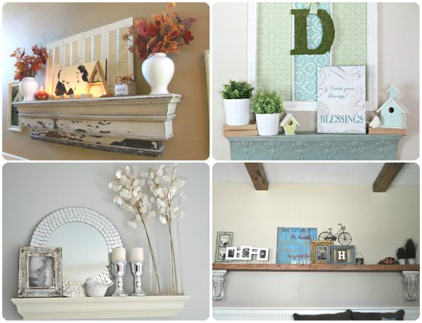 diy fireplace makeovers faux mantels shelves. Black Bedroom Furniture Sets. Home Design Ideas
