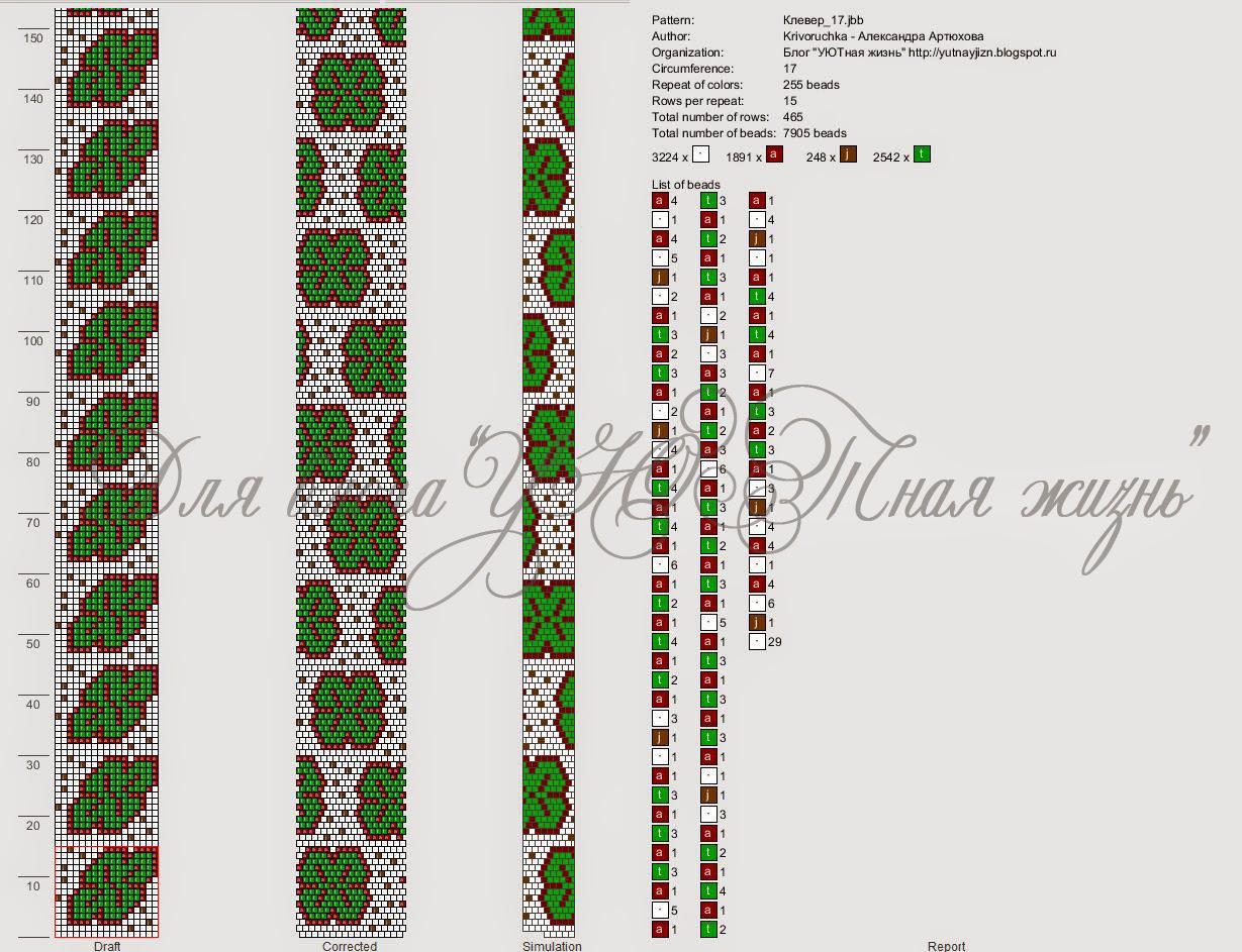 Схемы вязания жгутов бисером с подробным описанием
