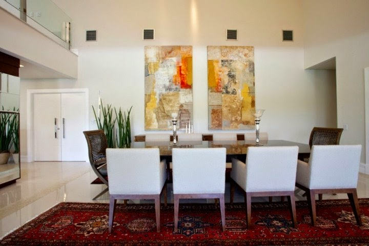 Wall paint ideas for dining room for Dining room wall art canvas