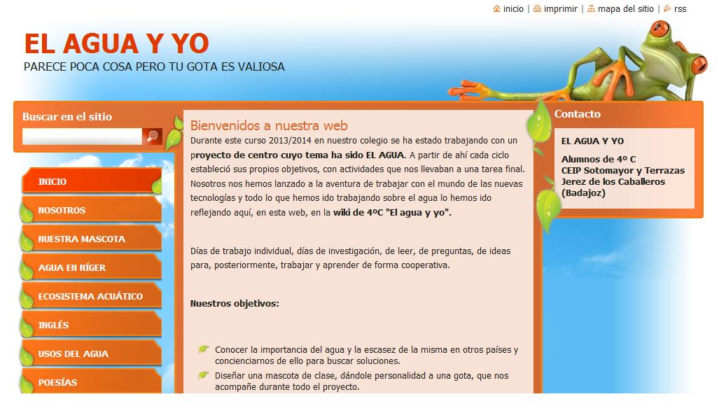 WEB EL AGUA Y YO