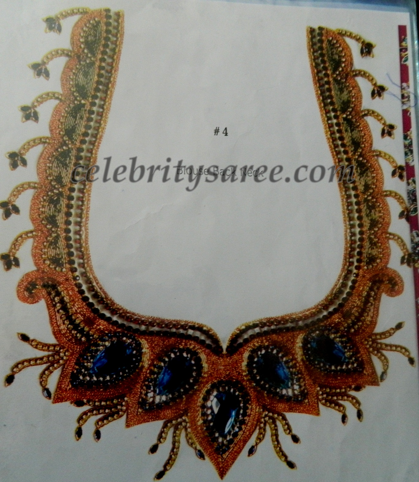 stone work blouse back neck designs saree blouse patterns