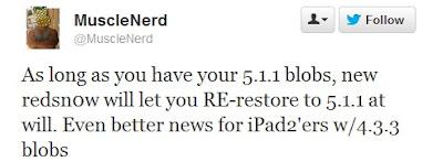 MuscleNerd restore ios 5.1.1