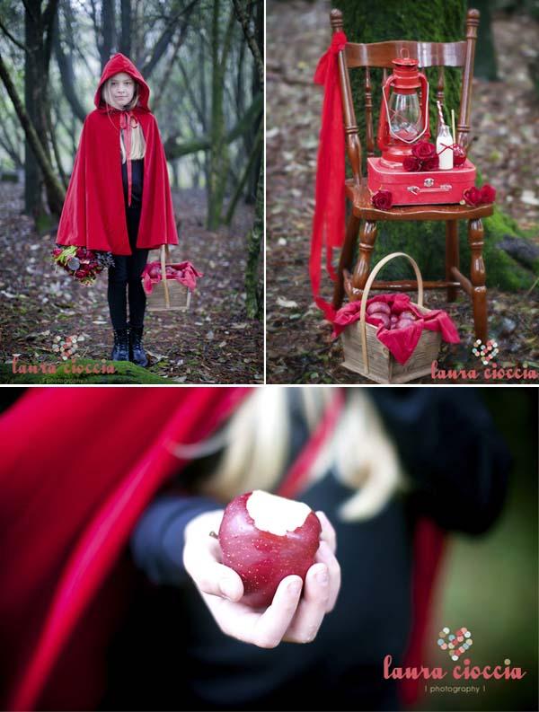 detalles del cumpleaños infantil disfraz caperucita roja