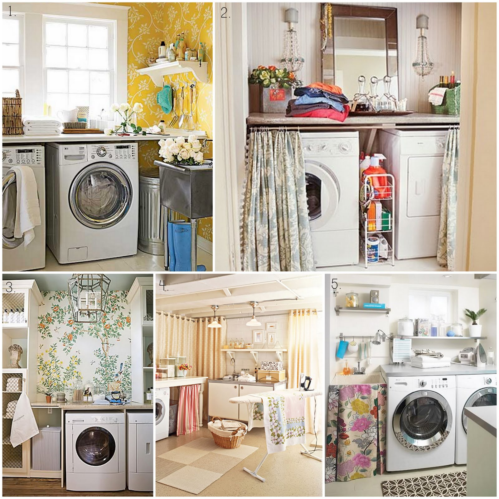 The Ardent Sparrow}: Monday Design Inspiration: Laundry Room