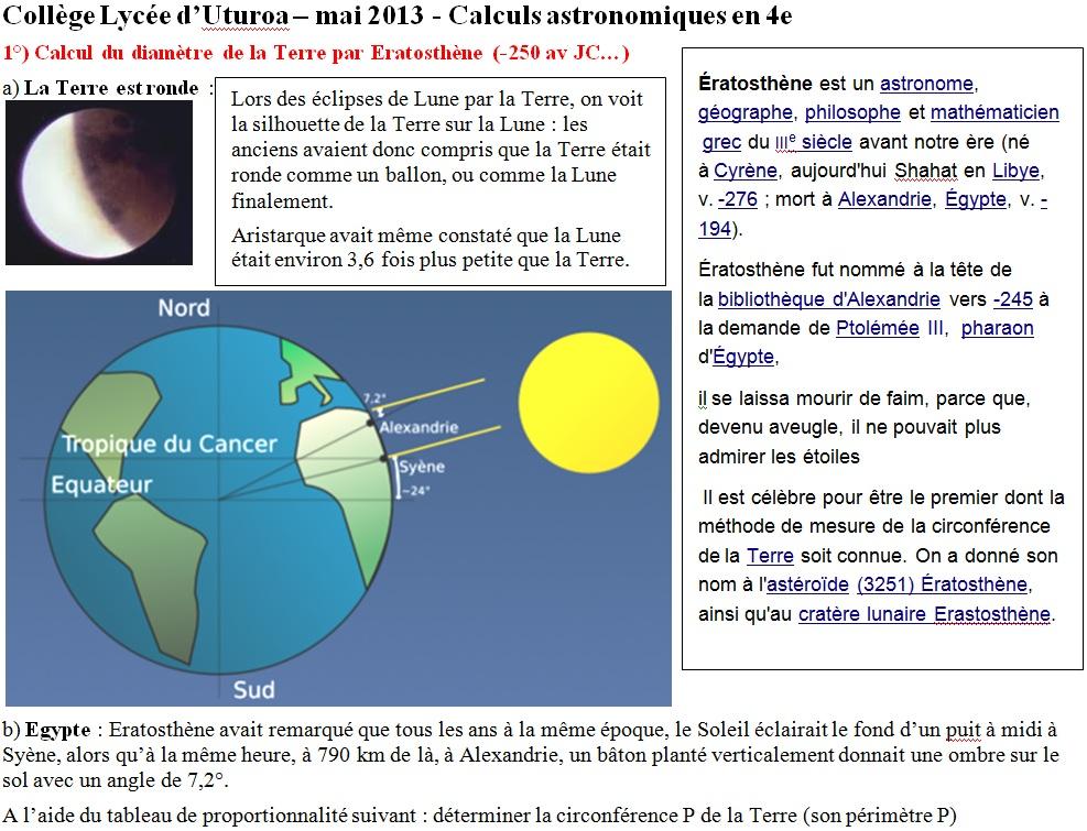 Raiatea bac mai 2013 - Methode simple pour mesurer terre ...