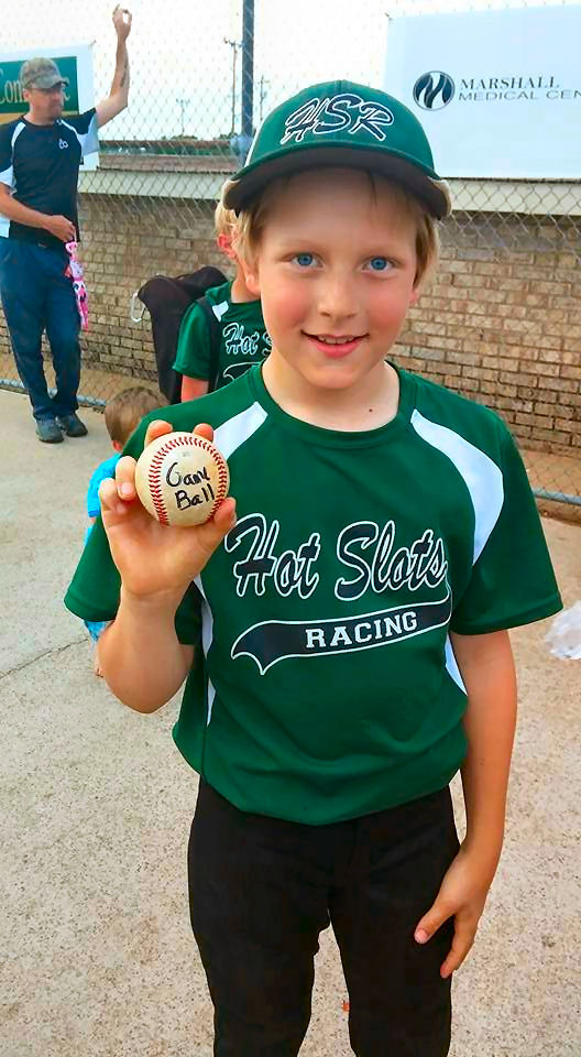 Shawn's 1st game ball