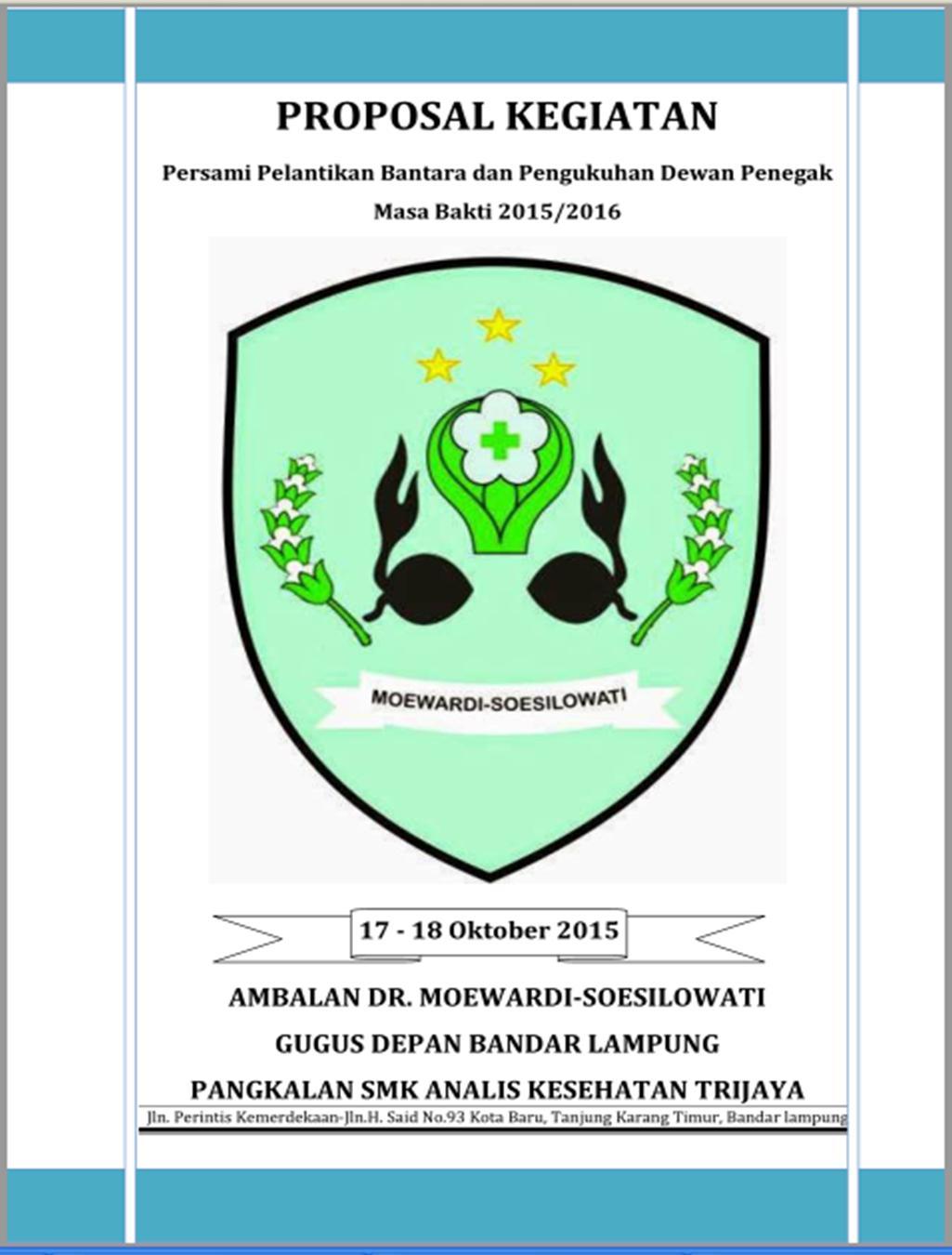 Contoh Proposal Perkemahan Dr Moewardi Soesilowati