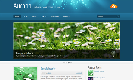 Aurana Blogger Template