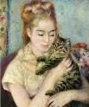 Renoir - Mujer con un gato