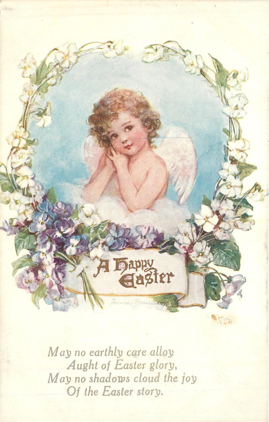 Старинные открытки с нем ангела 412