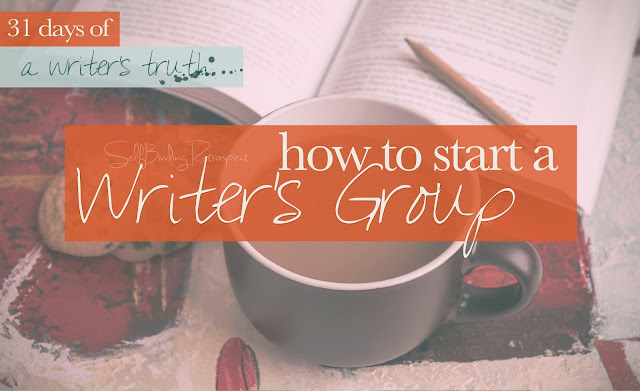How to start a writer's group #write31days