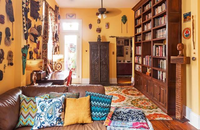 Punk in New Orleans - Einrichtung zum Selbermachen im entspannten Design: Wohnzimmer und Esszimmer