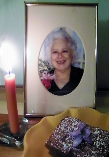 Photo of Joy with Candle and Birthday Brownie