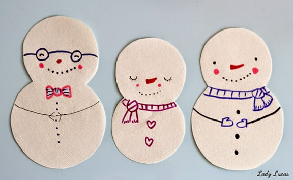 Snowmen Craft by Lady Lucas for JCFamilies