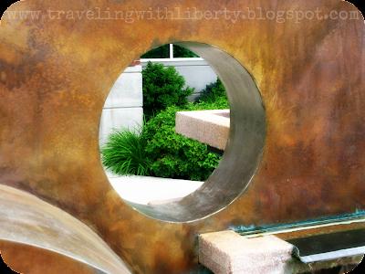 Coeur d'Alene public library sculpture