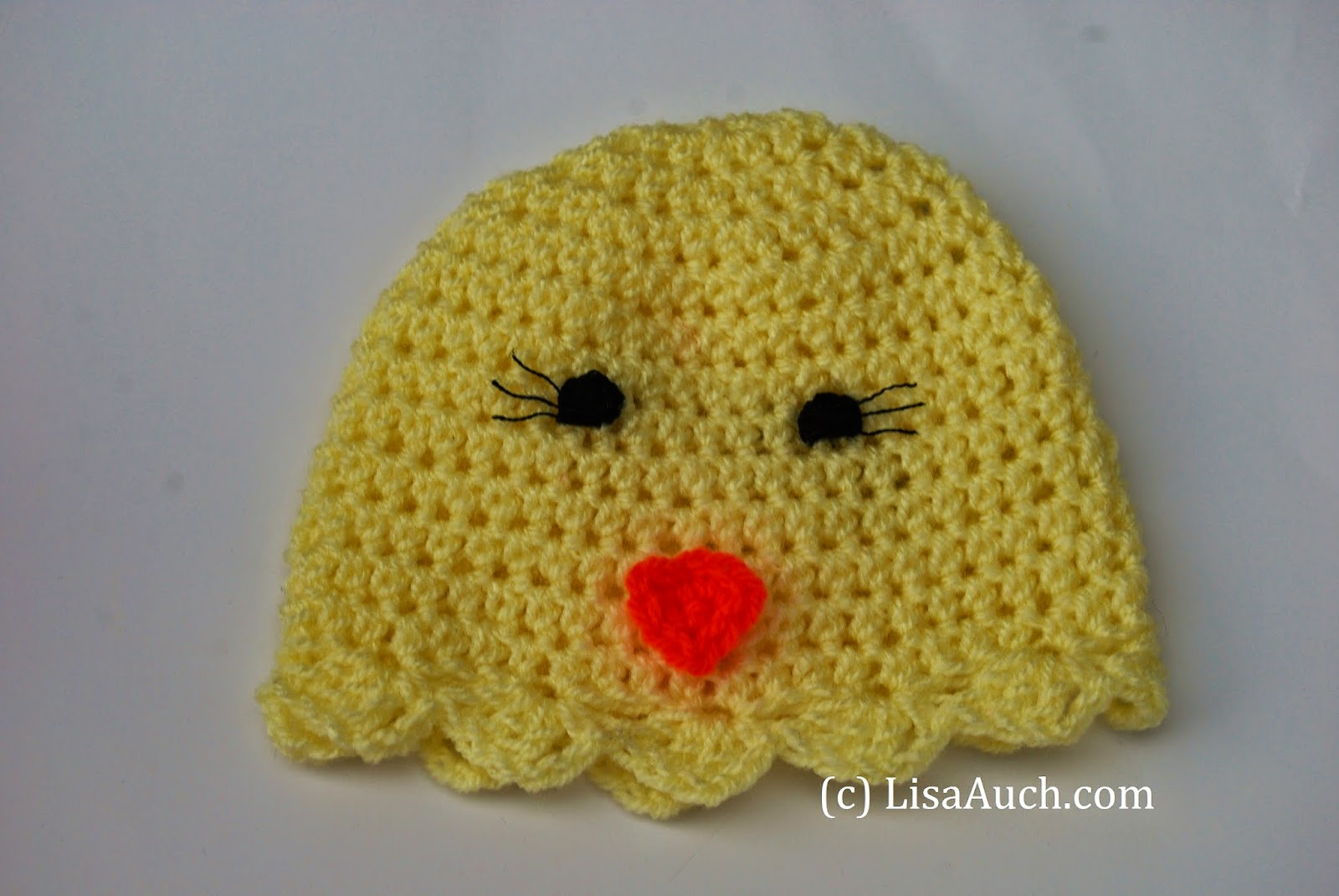 free easter crochet pattern for newborn chick hat