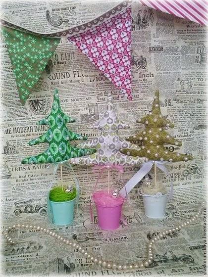Новый год, гирлянда, елочки, елка, тильда, подарок, что подарить на новый год, текстильная игрушка