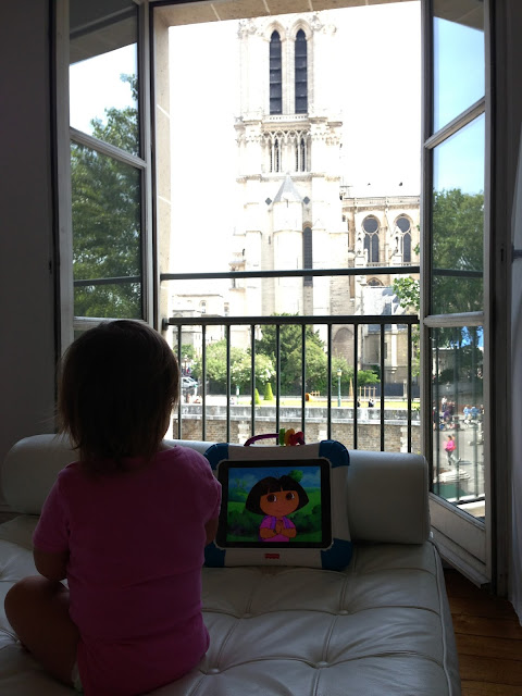 paris apartment with baby, snowdrop, guest apartment services