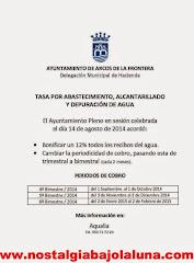 BAJA EL RECIBO DE AGUA EN ARCOS