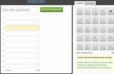 InstaCalc calculadora online gratis