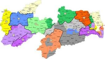 Mapa da Paraíba