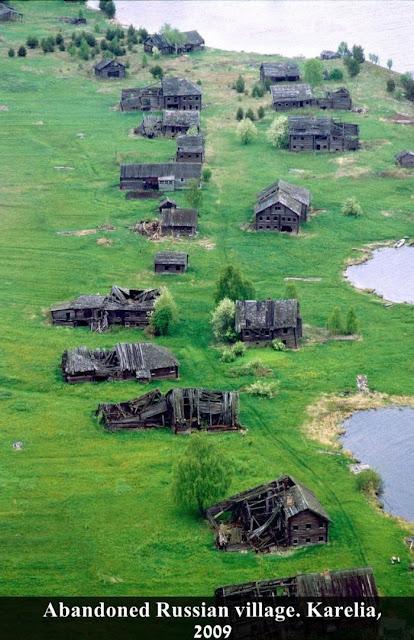 Russian village karelia