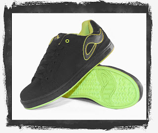 Adio Shoe: Eugene Shoe Final Black - Neon Green
