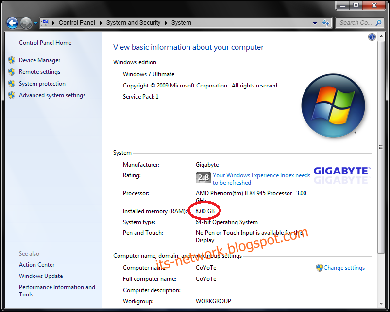 Ram Memory Terbaca Full 8 Gb Di Windows 7 64 Bit