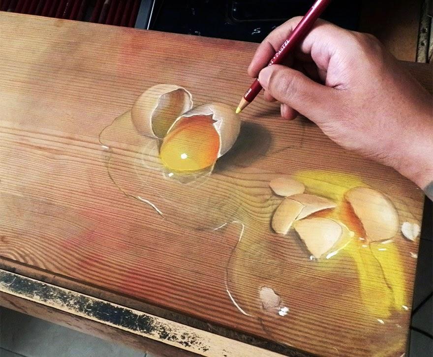Lukisan Sangat Nyata Papan Kayu Sungguh Terlihat Realistik ini Hanya Lukisan
