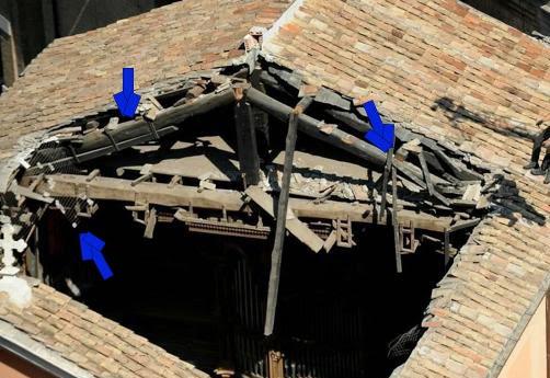 COLAPSO SÚBITO DE LA IGLESIA DE SAN GIUSEPPE DEI FALEGNAMI EN ROMA