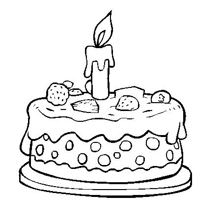 Dessin gateau anniversaire 5 ans a imprimer - Dessin de gateau d anniversaire ...