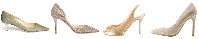 Three of these pairs of glitter heels are from Jimmy Choo for hundreds of dollars and one is from Charlotte Russe for $25. Can you guess which one is the more affordable pair? Click the links below to see if you are correct!