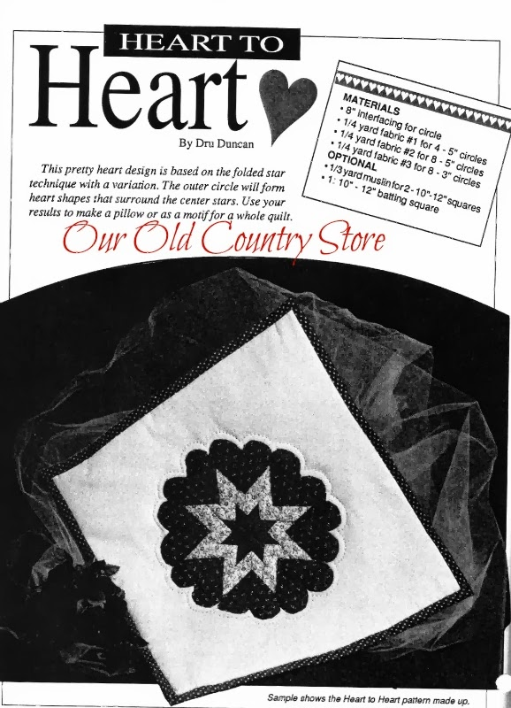 Our Old Country Store Heart To Heart A Free Folded Heart