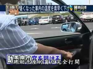How to Cool Down a Car Under Direct Sun with a Japanese Door Trick