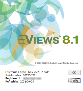 EViews 8.1 Enterprise Edition Full Crack